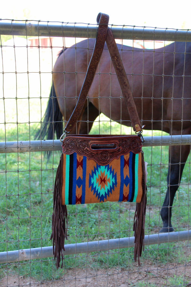 Hi Ho Silver Saddleblanket Fringe Purse