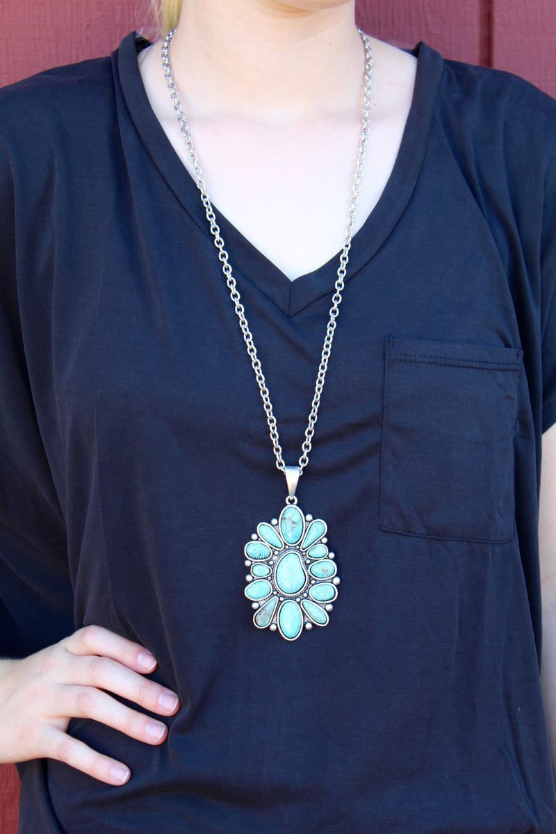 Childers Turquoise Cluster Necklace