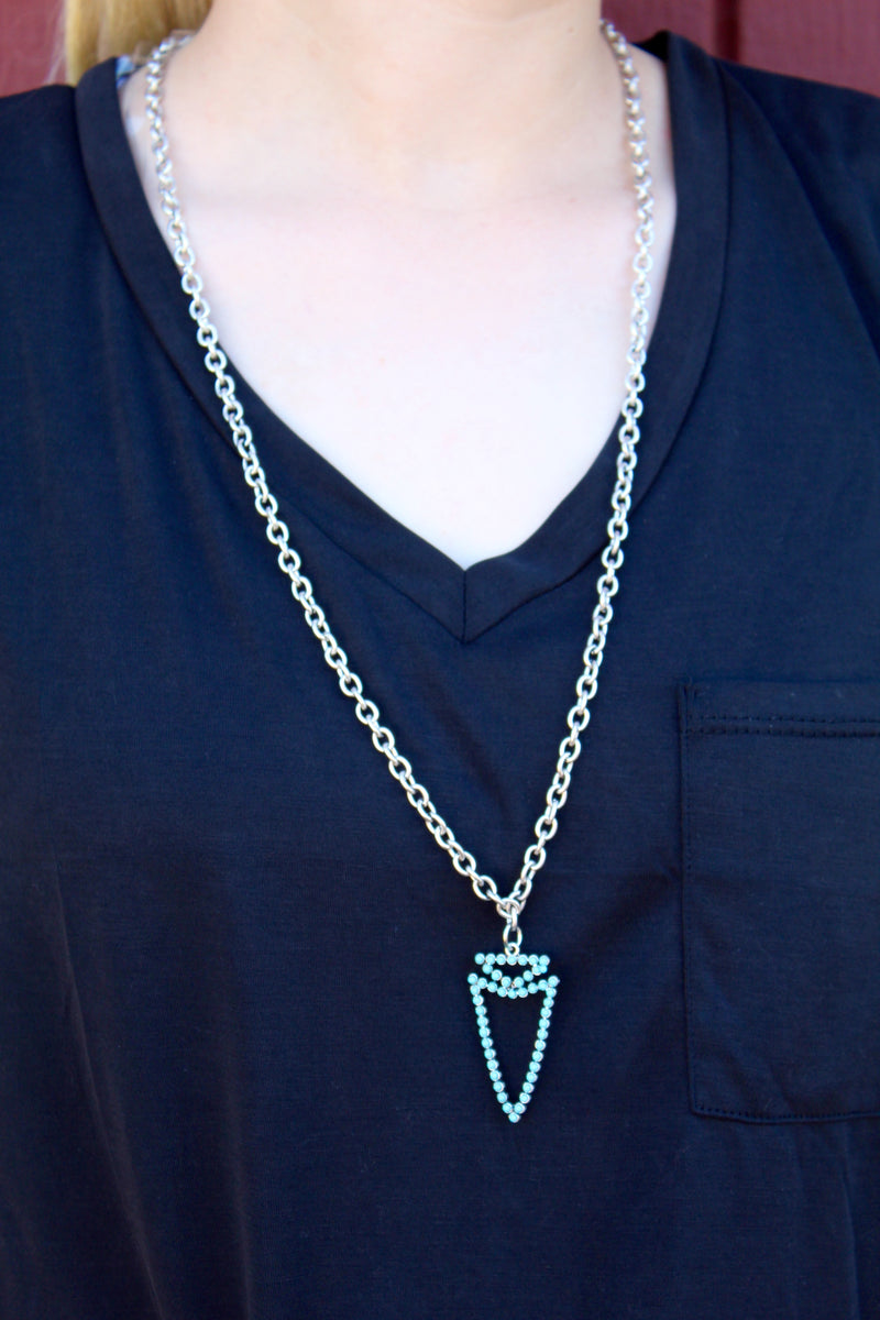 Follow Your Arrow Turquoise Necklace