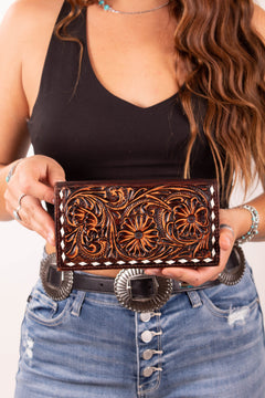 Where The Heart Is Tooled Wallet