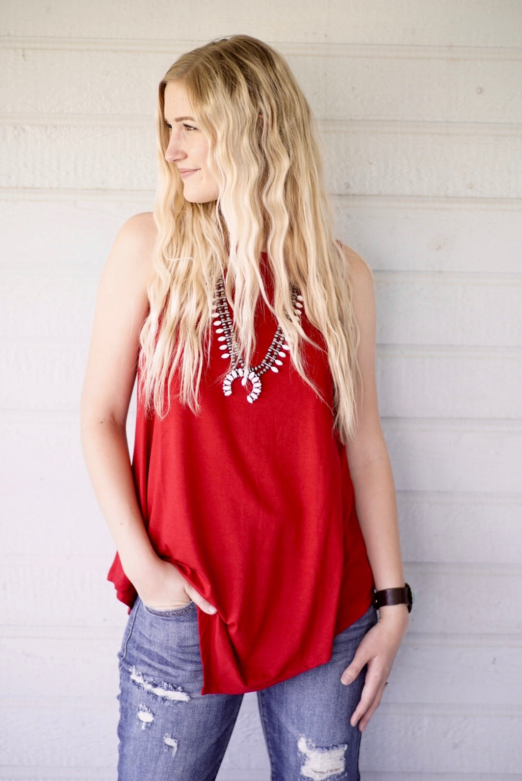 Ruby Red Tank