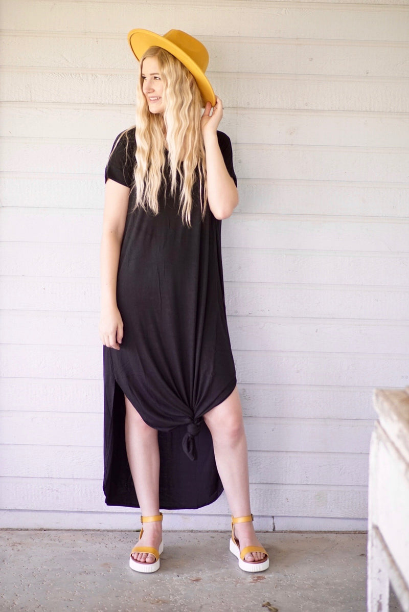 Cadillac Black Maxi Dress