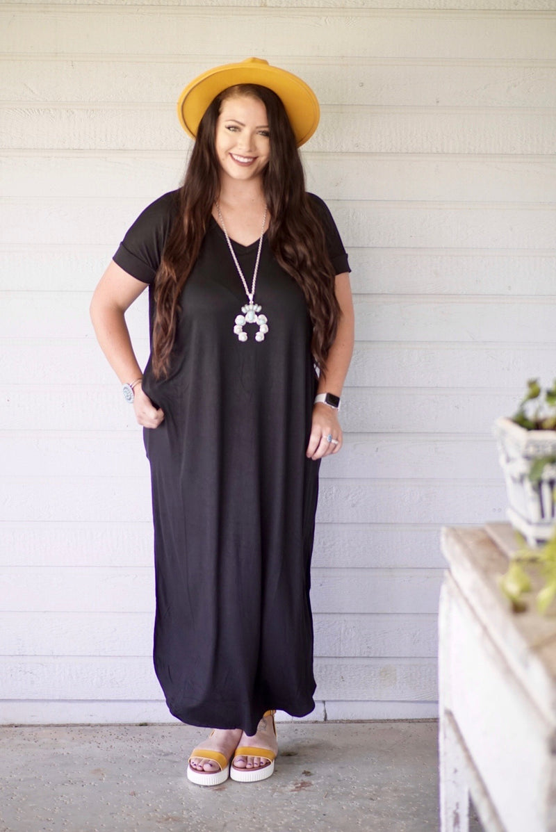 Plus Size Cadillac Black Maxi Dress