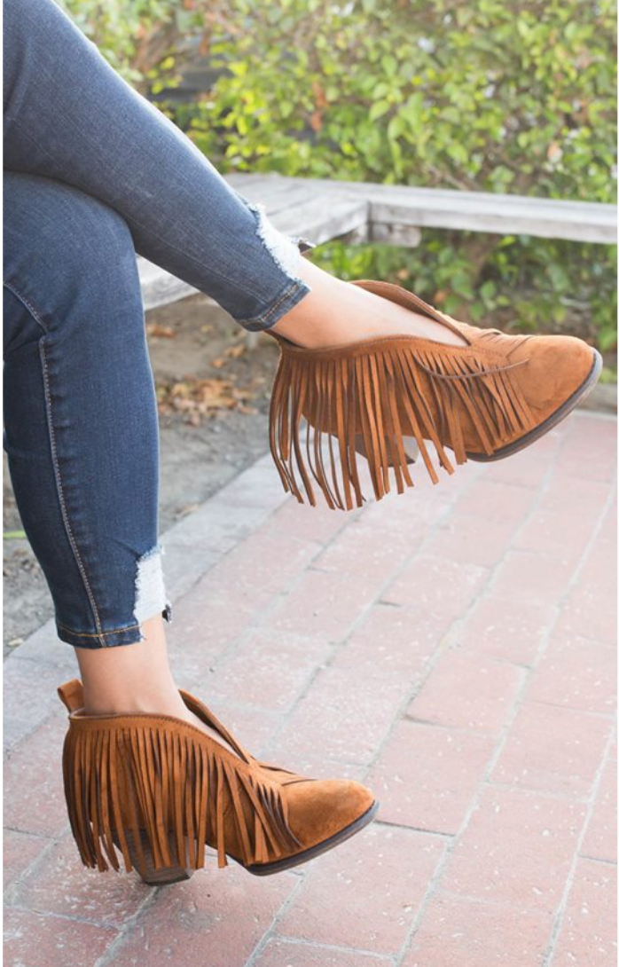 Fringed Out Booties