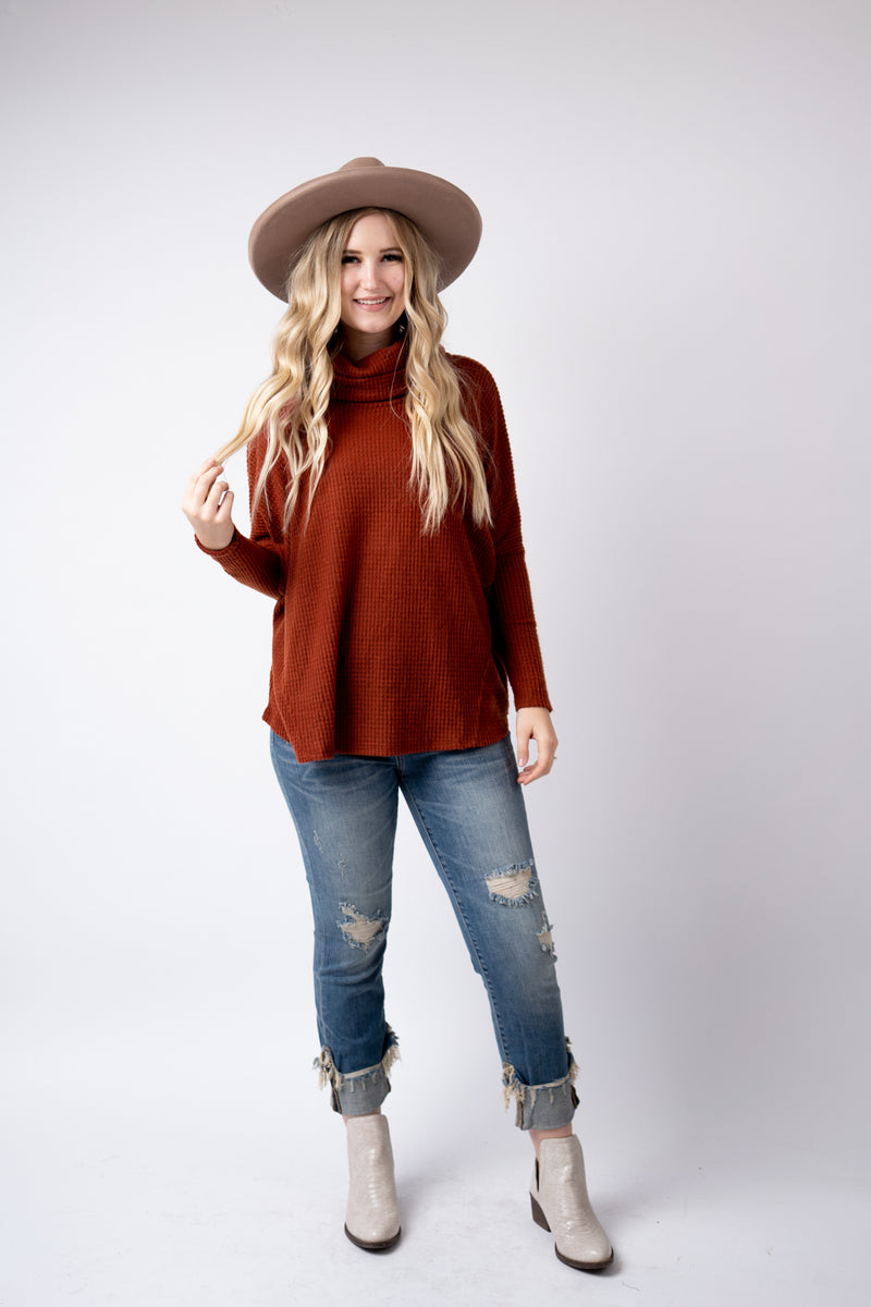 Rusted And Wild Turtle Neck Top