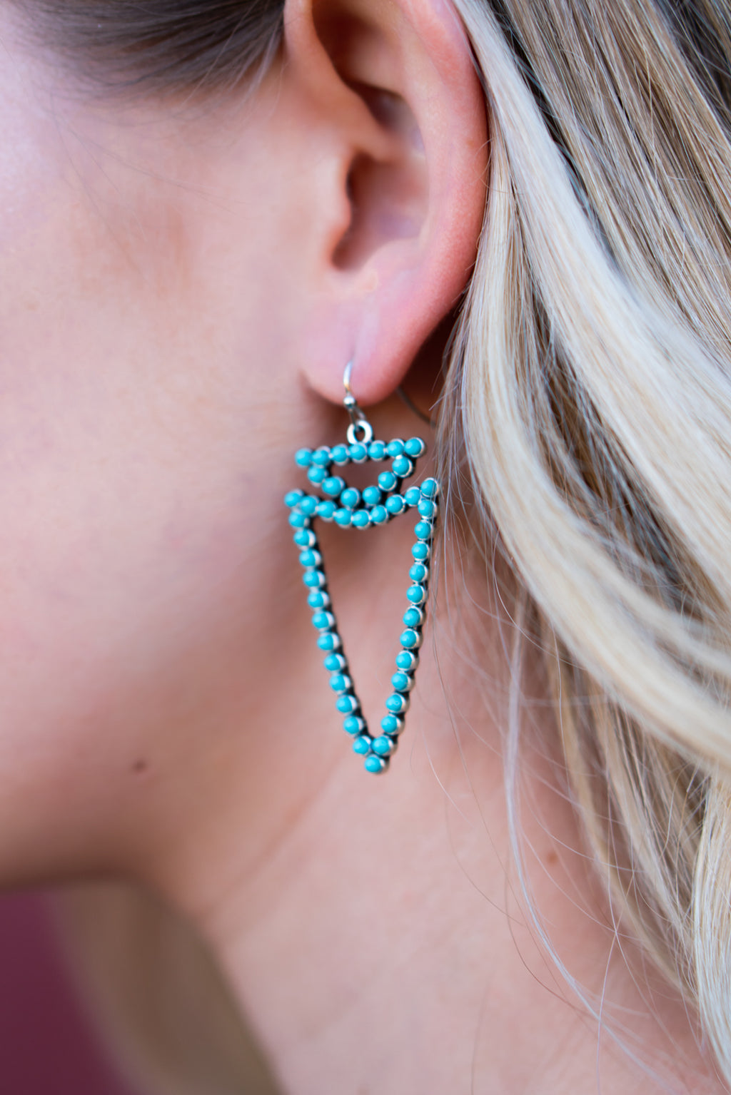 Turquoise Arrowhead Earrings