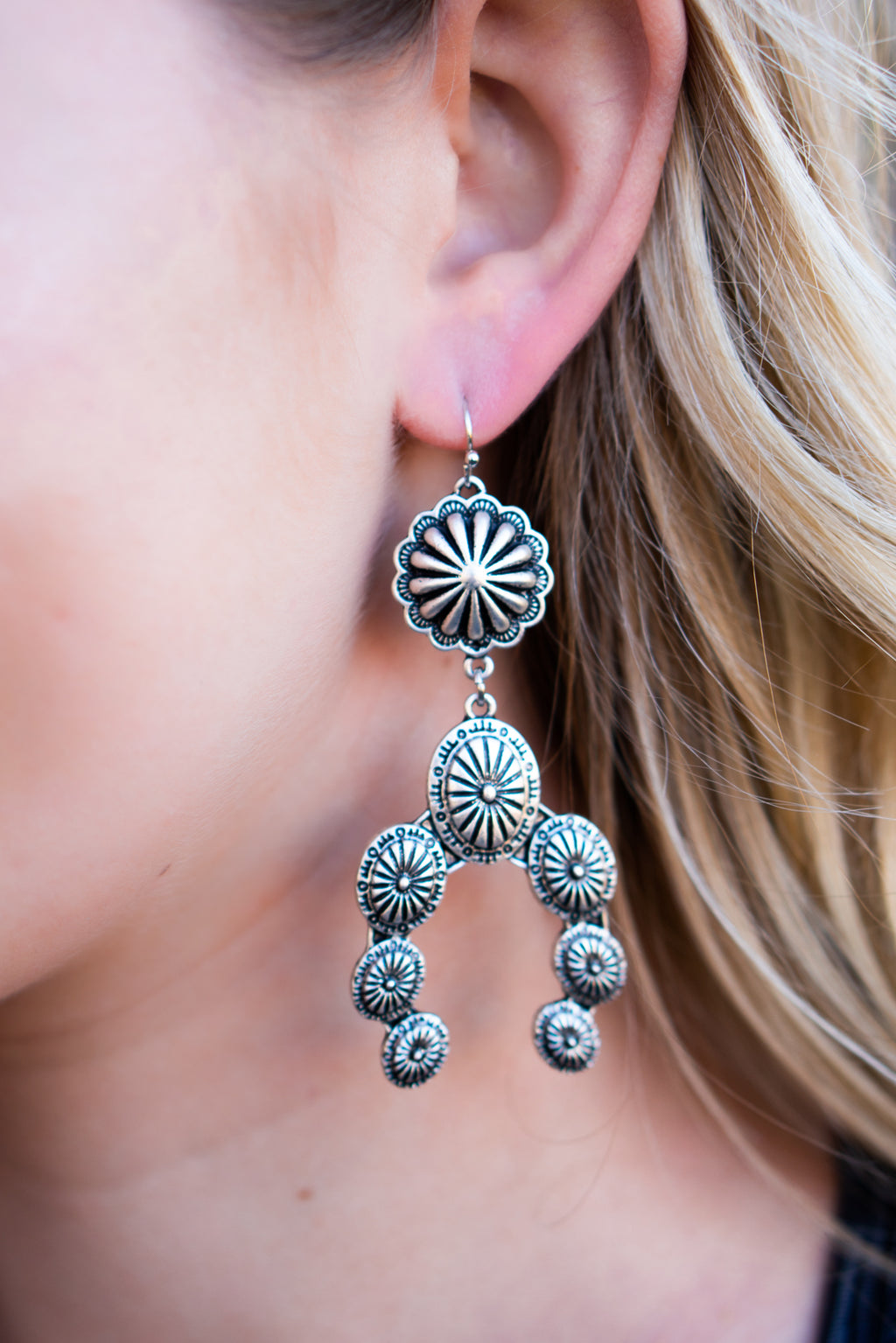Squash Concho Dangle Earrings