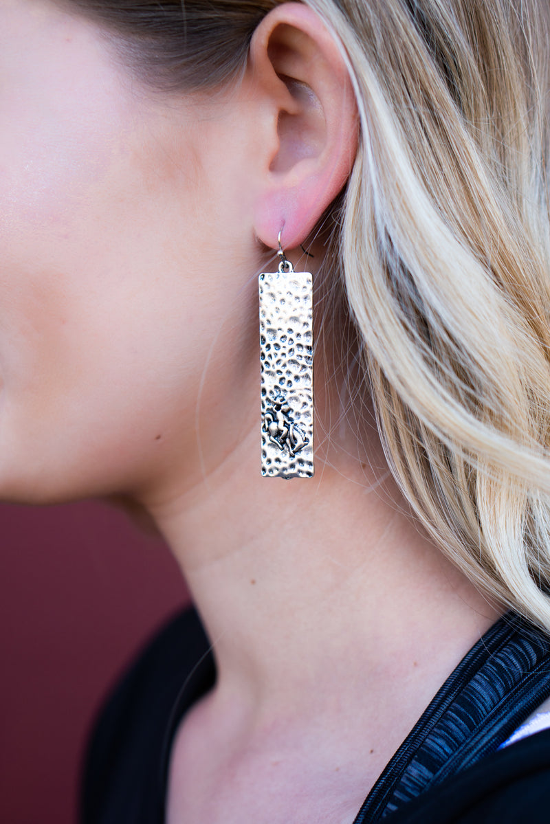 Ride Em Rank Dangle Earrings