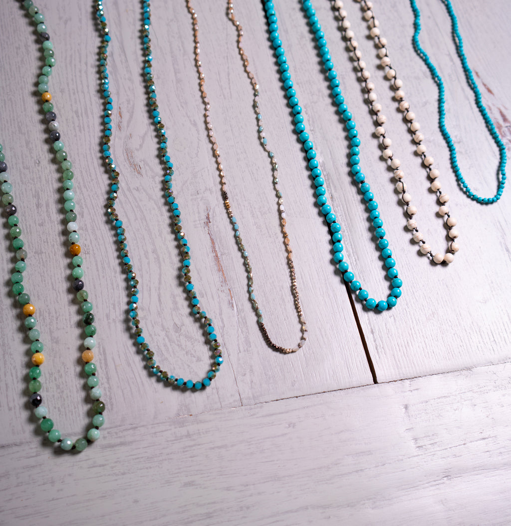 "15"" Crystal Beaded Necklaces"