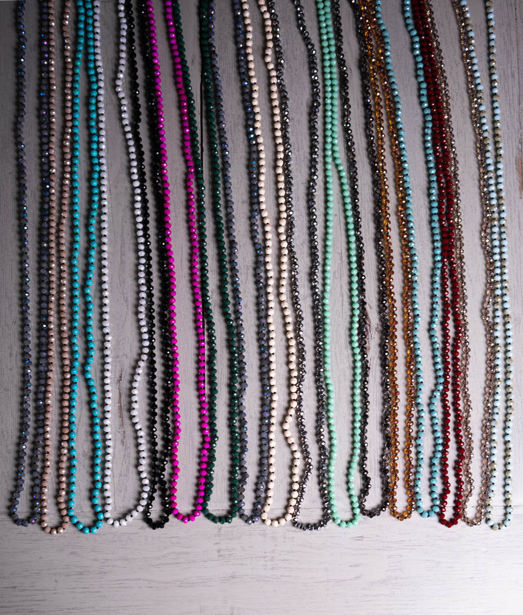 "30"" Crystal Beaded Necklaces"
