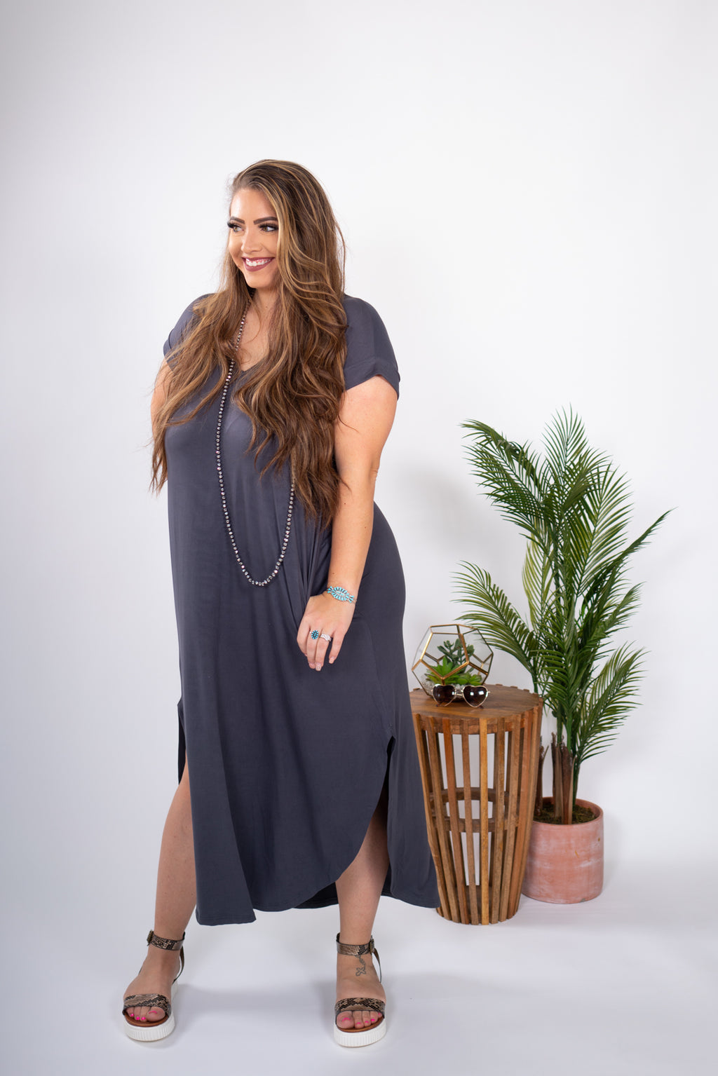 Grey Galexy  Maxi Swing Dress