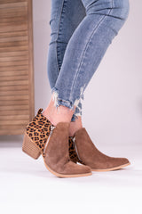 All About Leopard Zip Bootie