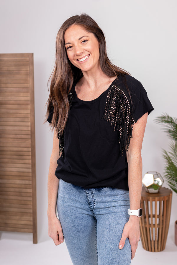 Hey Soul Sister Fringe Top
