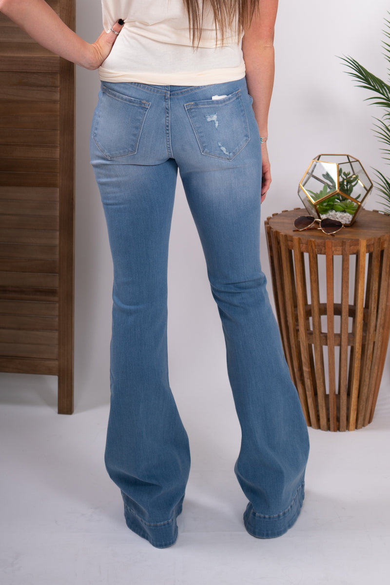 The Loretta Distressed Denim Trouser