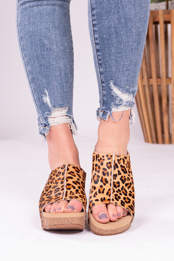Leopard Queen Slide Sandal