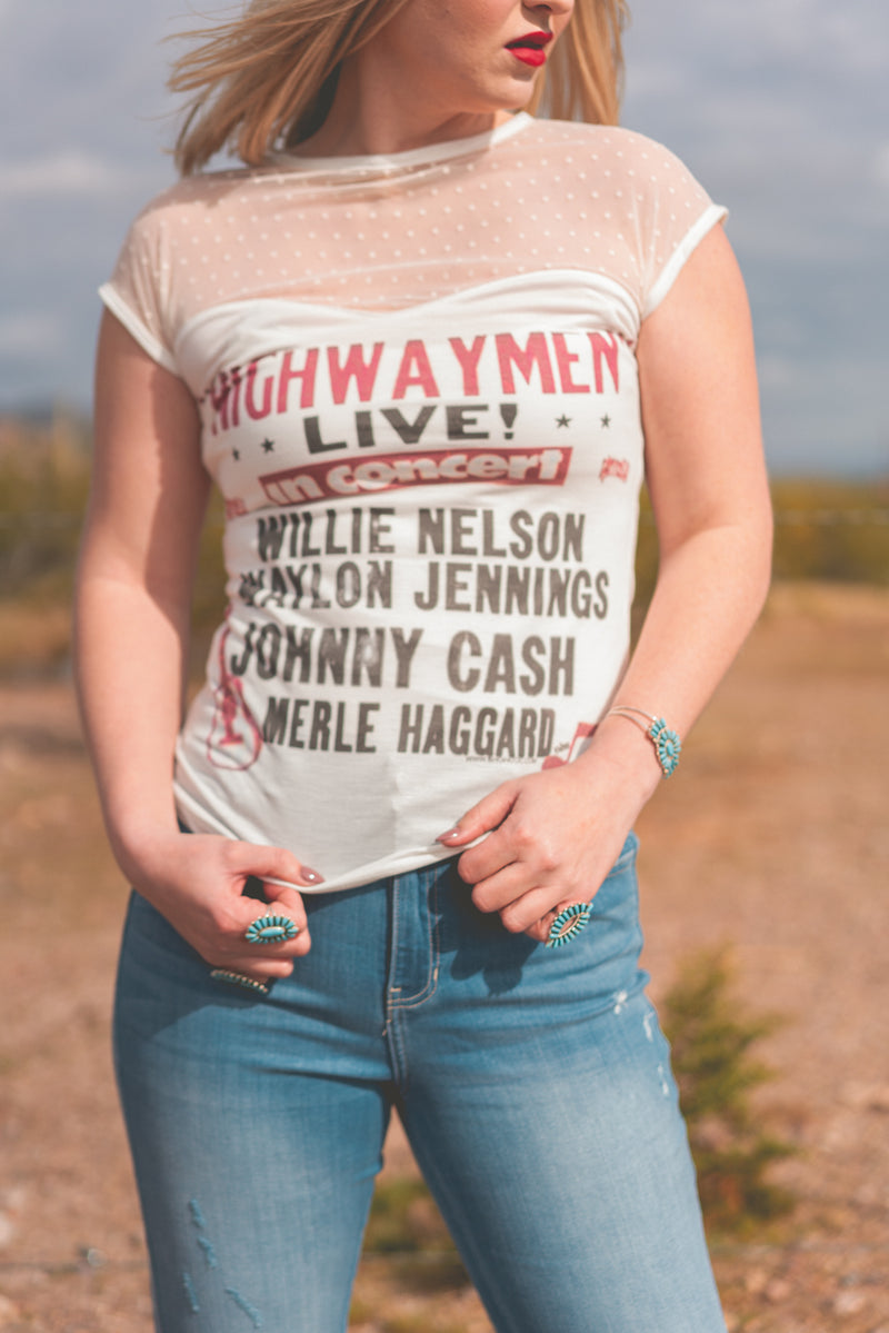 Miss Fancy Highway Men Retro Tee