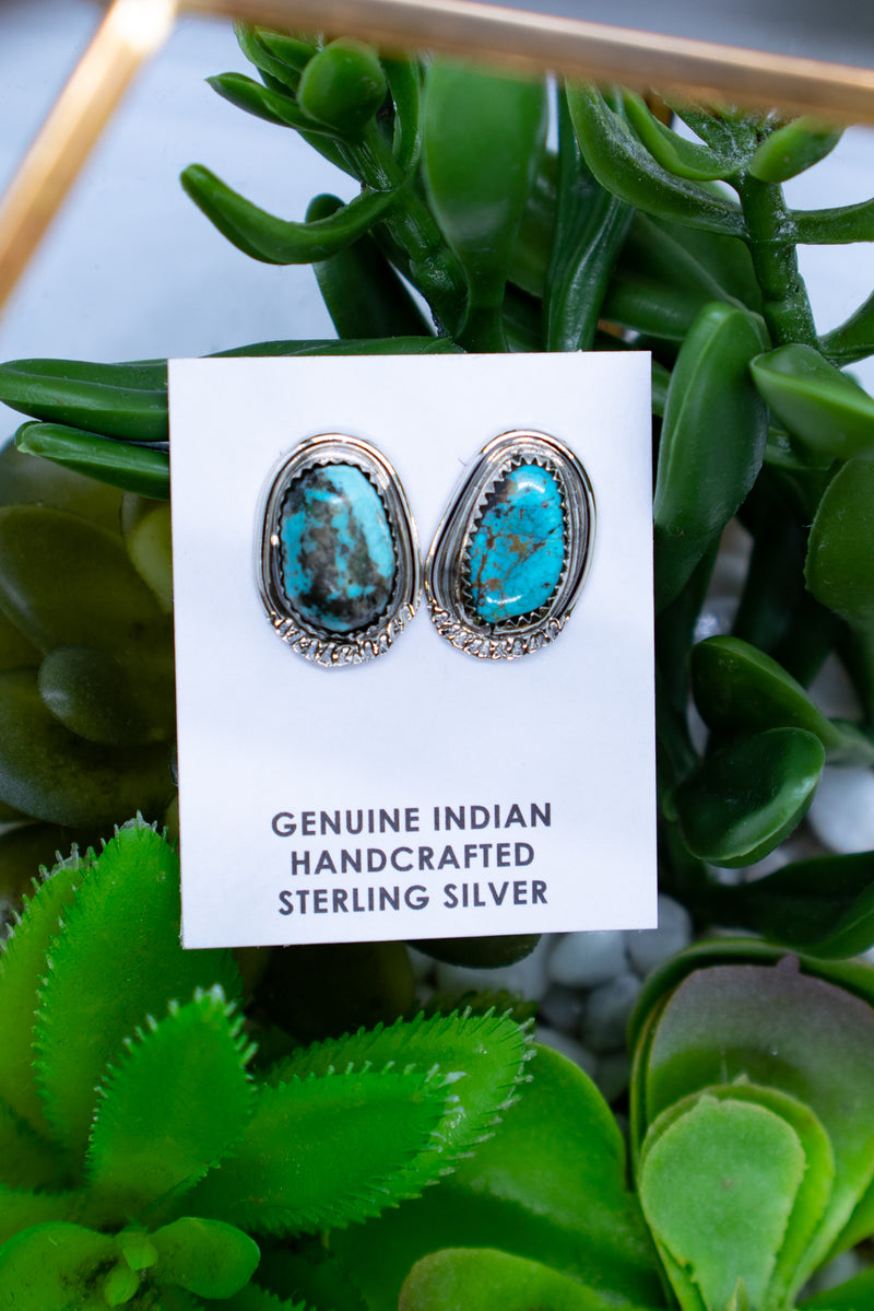 The Betty Turquoise Sterling Silver Studs