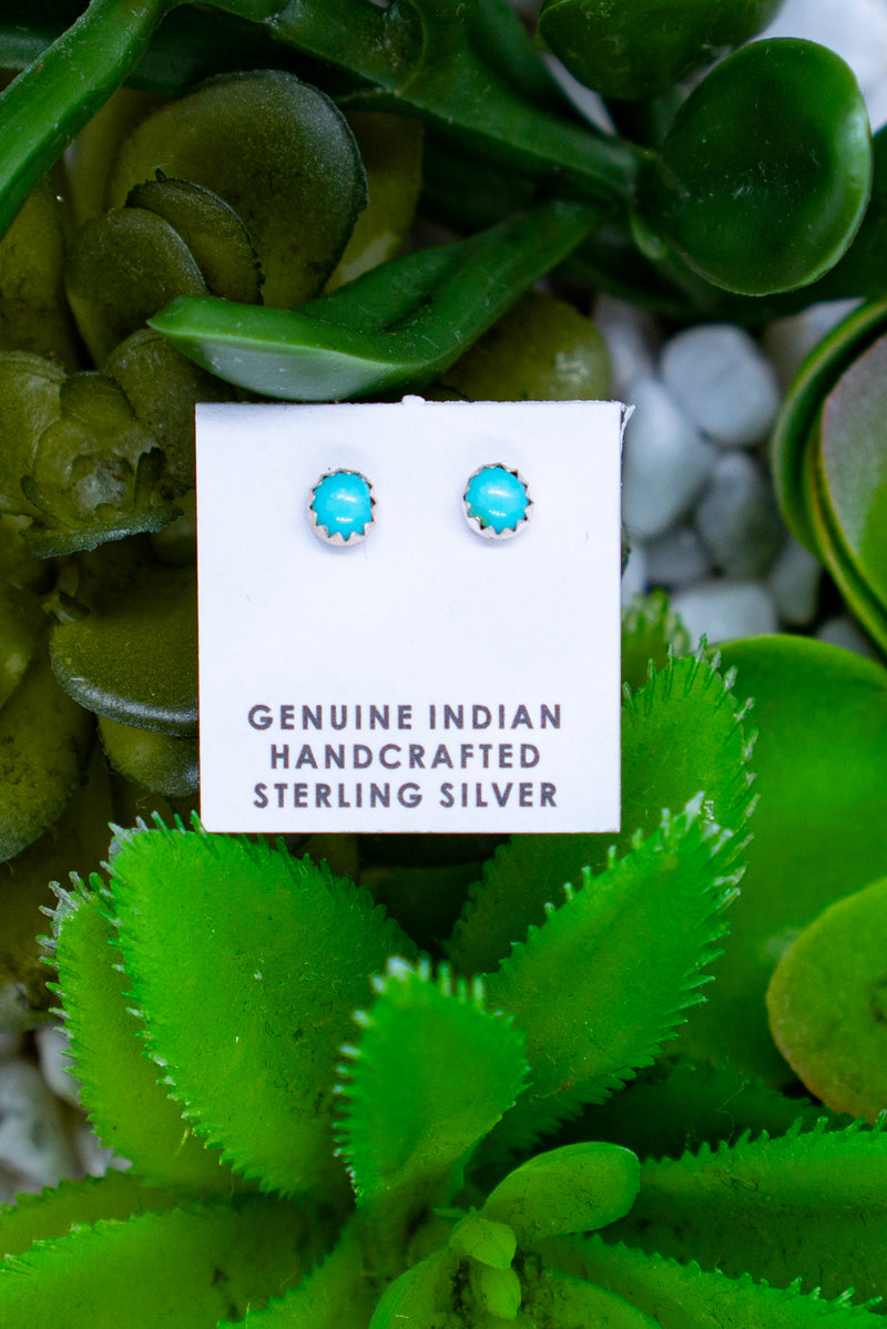 The Tiny Turquoise Sterling Silver Stud