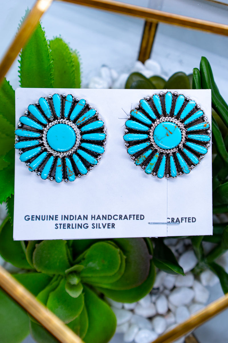 West Texas Wind Sterling Silver Turquoise Studs