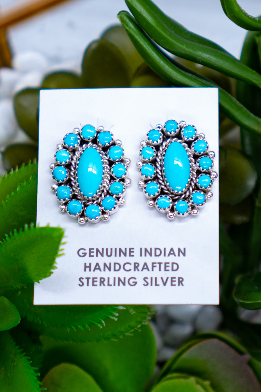 Tennessee Whiskey Turquoise Sterling Silver Studs