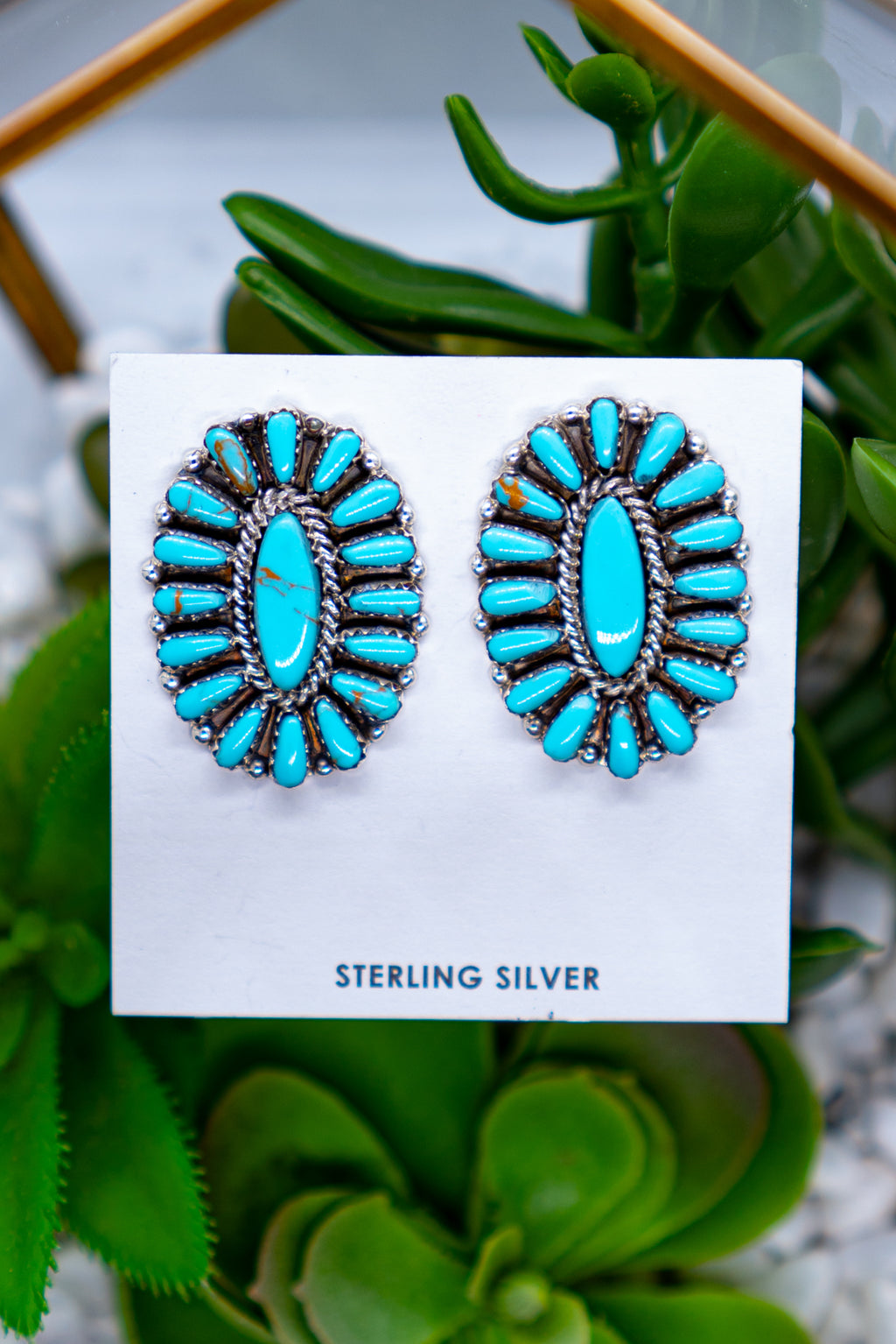 The Lennon Turquoise Sterling Silver Stud Earrings