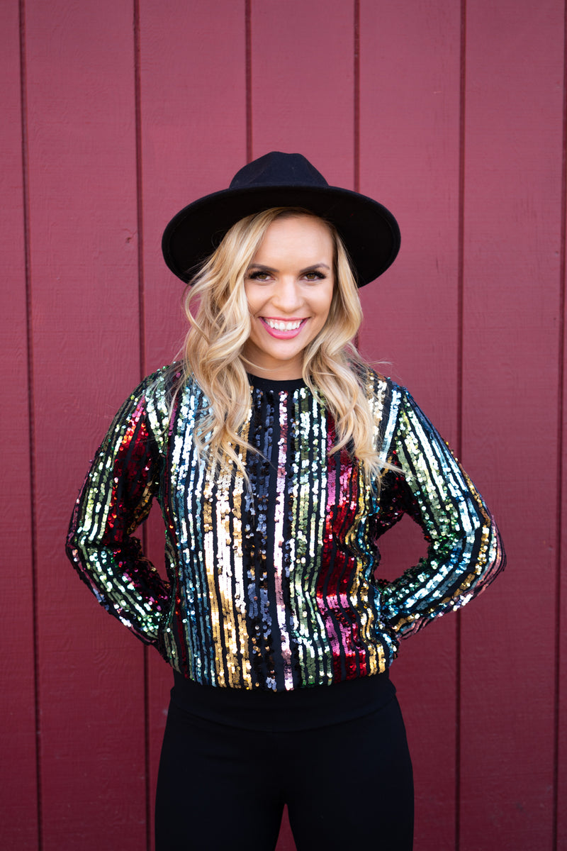 Holiday Cheermister Sequin Top