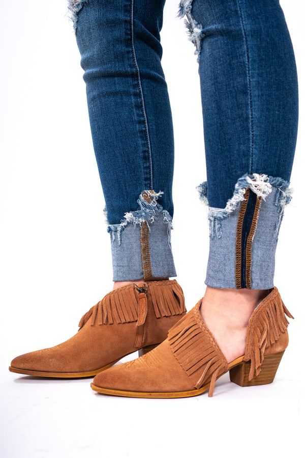 Fringe Fashionista Saddle Bootie