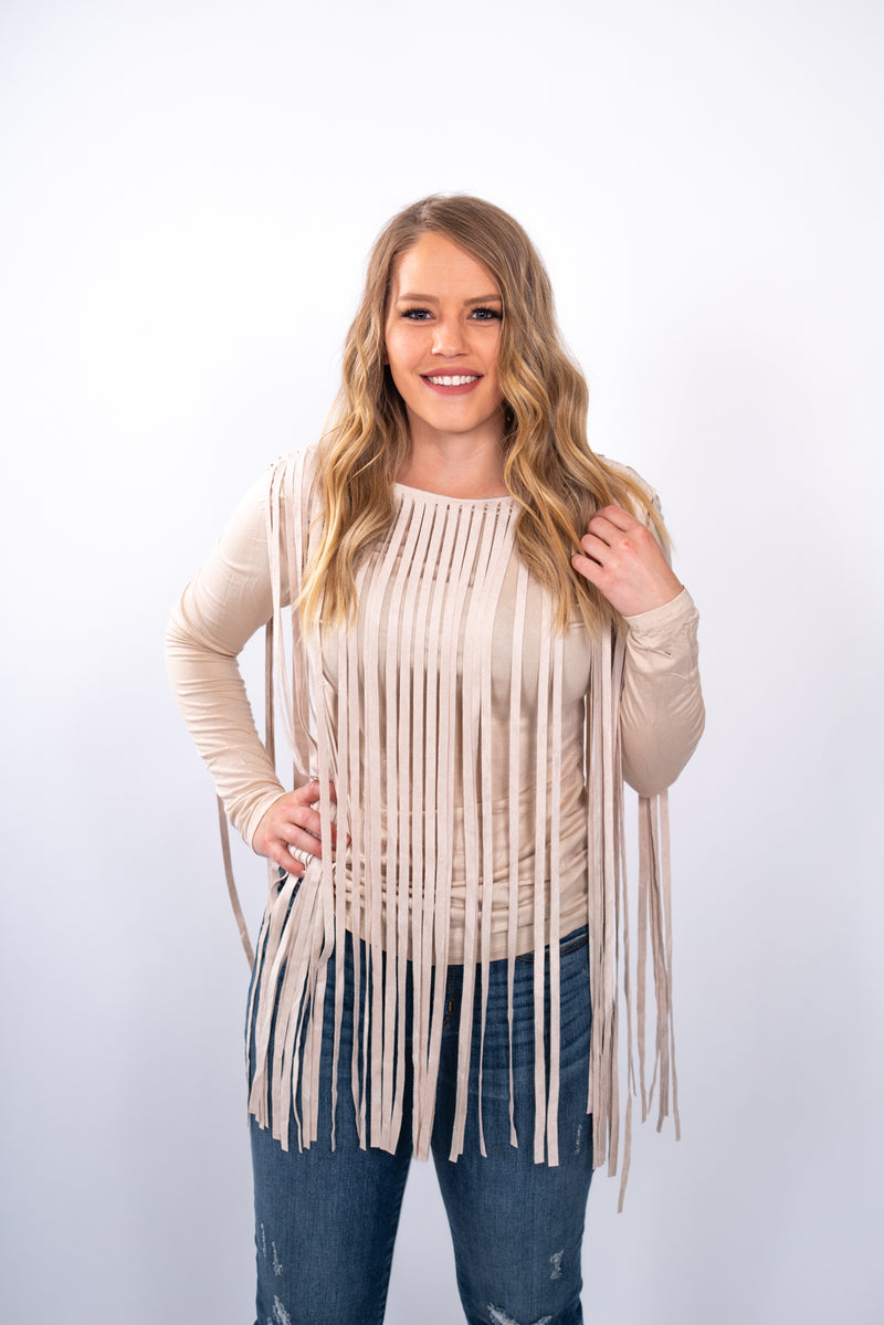 Sandy Fringe Top