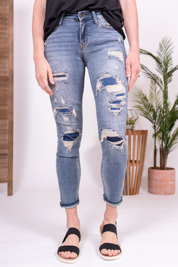 Patch Work Judy Blue Denim Jeans