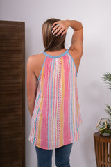 Serape Embroidered Tank Top