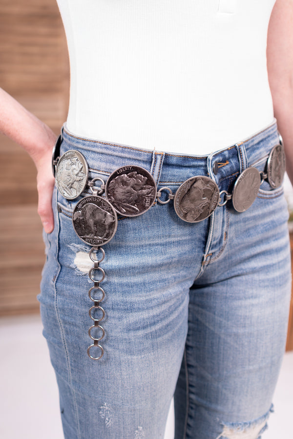 Buffalo Nickel Chain Belt