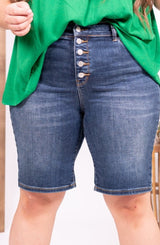 On The Fly Judy Blue Bermuda Shorts