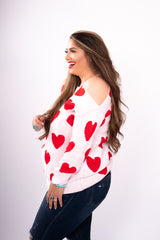 Be My Gal Heart Sweater Top