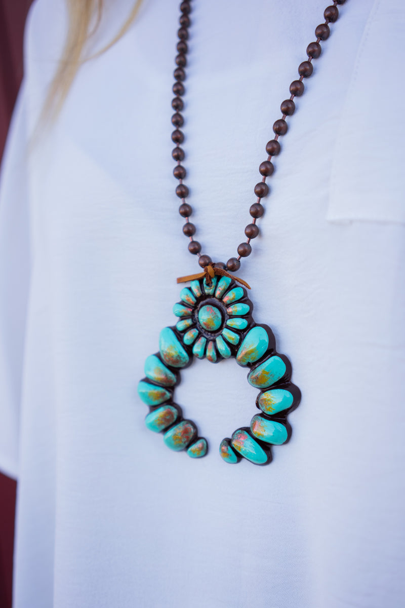 Great Falls Squash Blossom Necklace