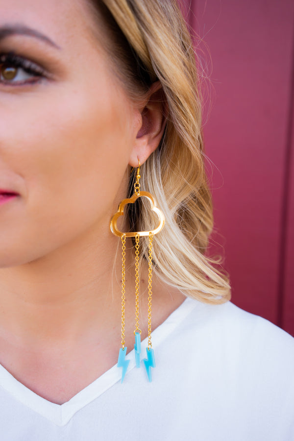 And The Thunder Rolls Dangle Earrings