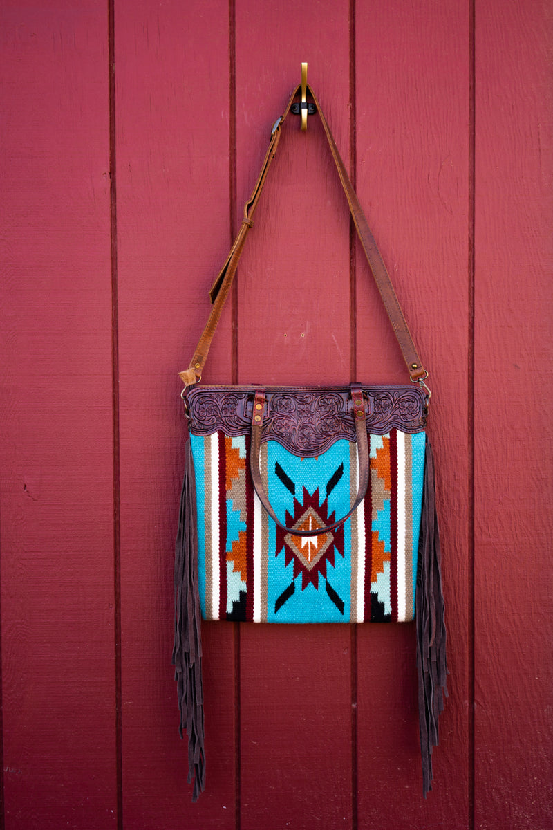 Willie Nelson's Turquoise Stash SaddleBlanket Bag