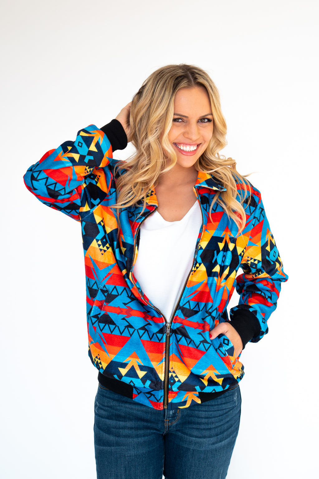 Sunset Rider Aztec Bomber Jacket