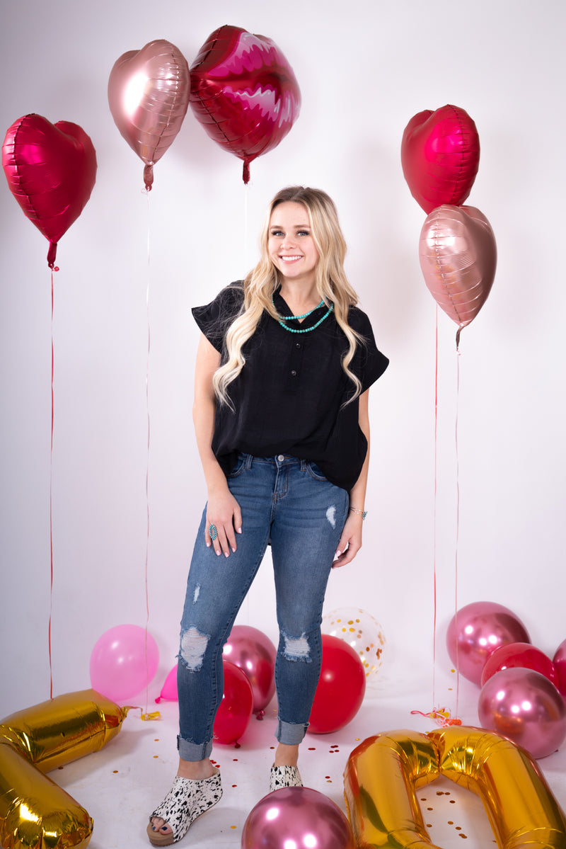 Montgomery Midnight Button Up Top