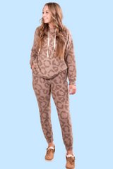 Hot Chocolate Leopard Jogger Top and Bottom Set