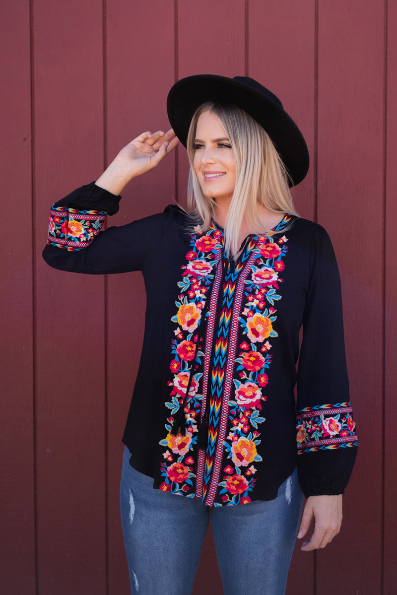 Senorita Embroidered Top