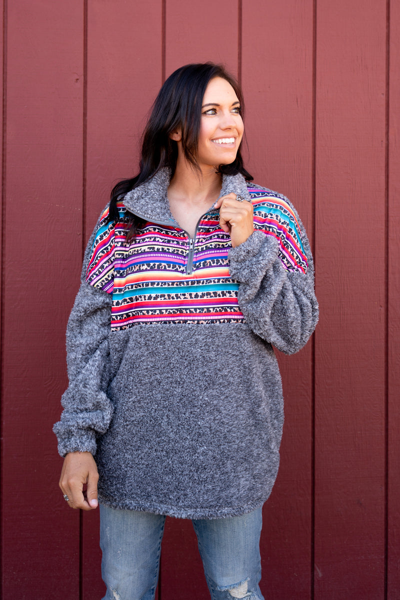 Winter In Serape Pullover