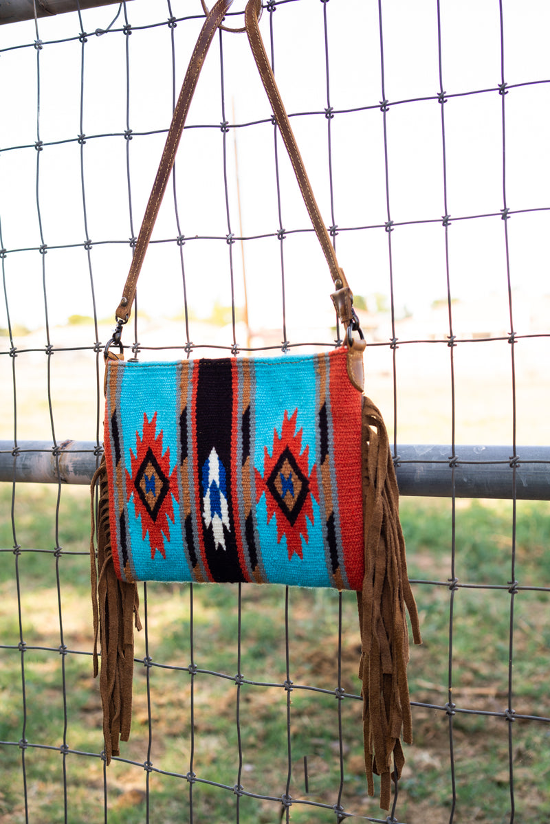 Baby's Blue Mini Fringe Purse