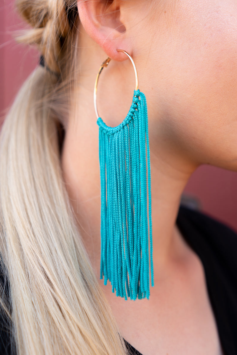 Fringed Out Hoop Earrings