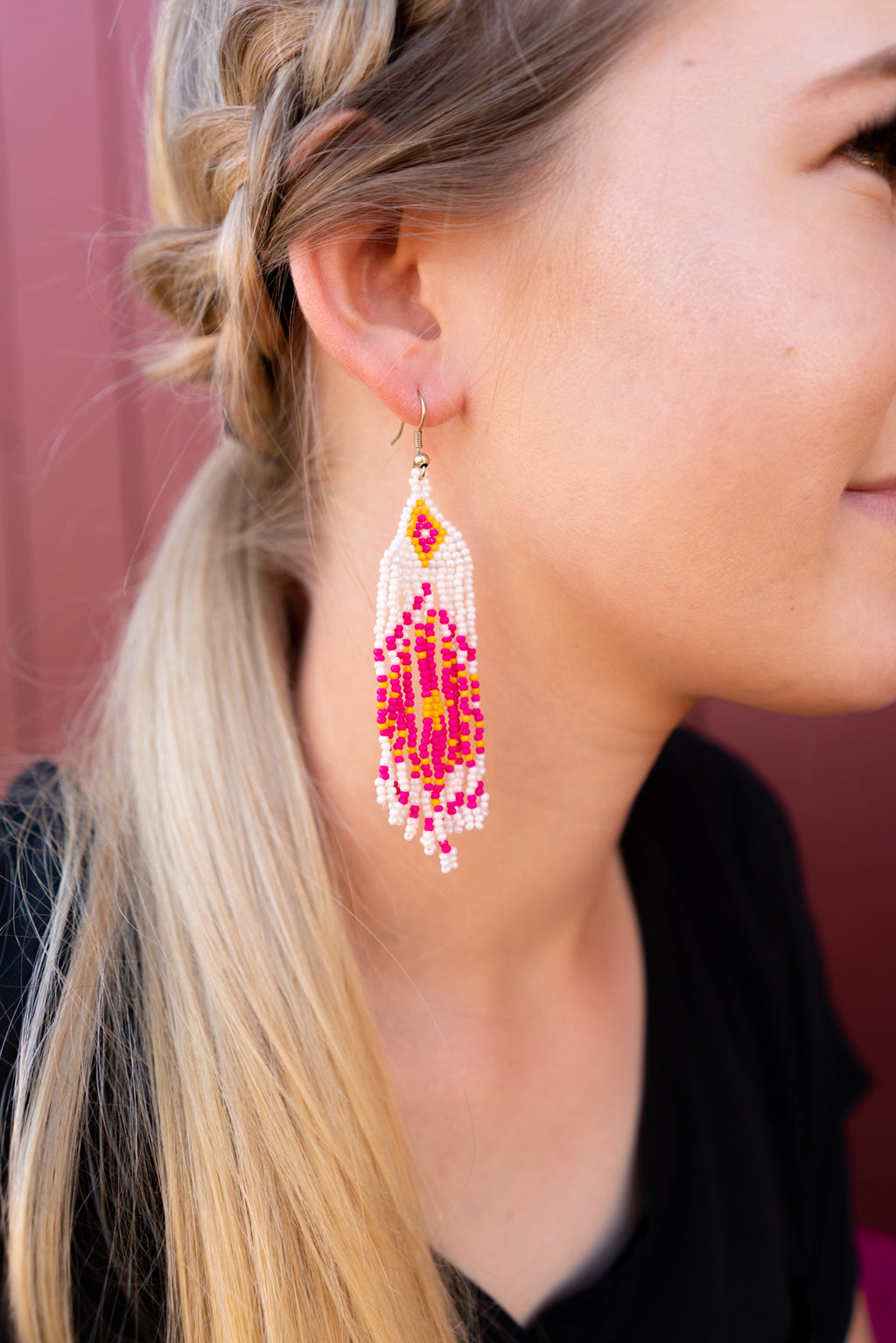 Sunshine and Fringe Aztec Earrings