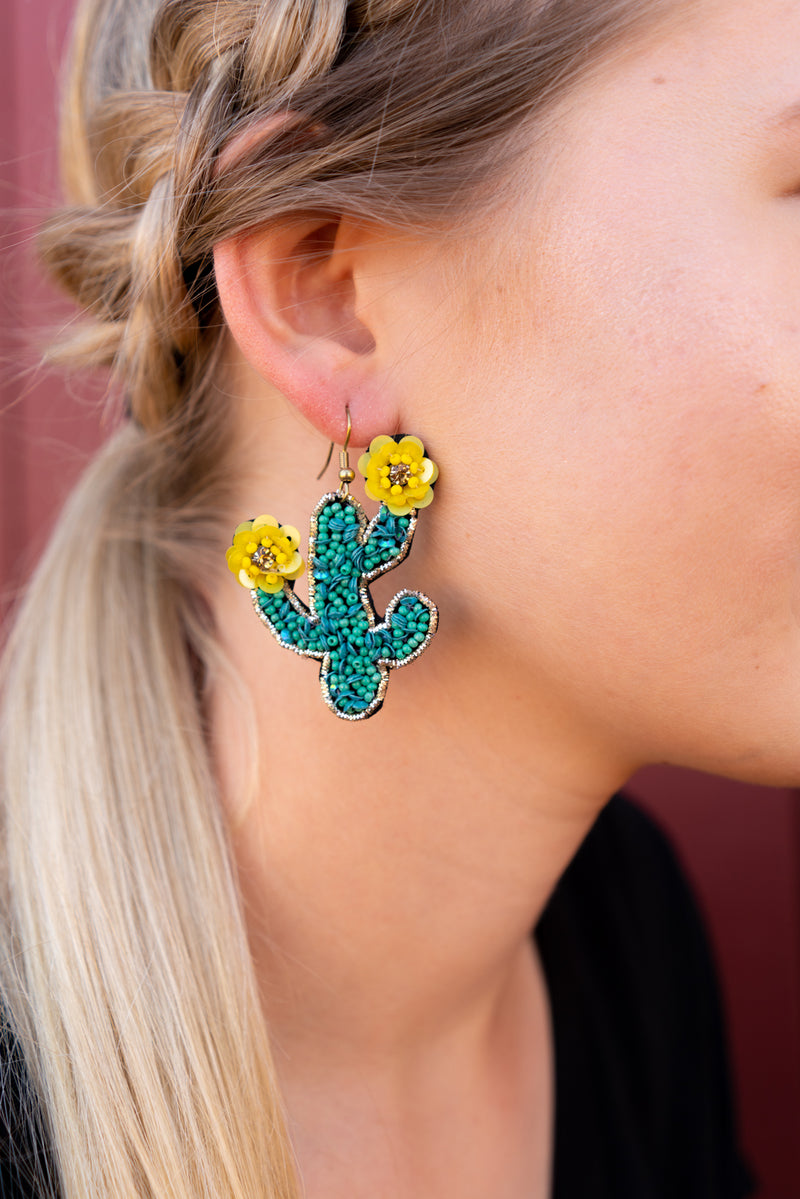 Spring Saguaro Earrings