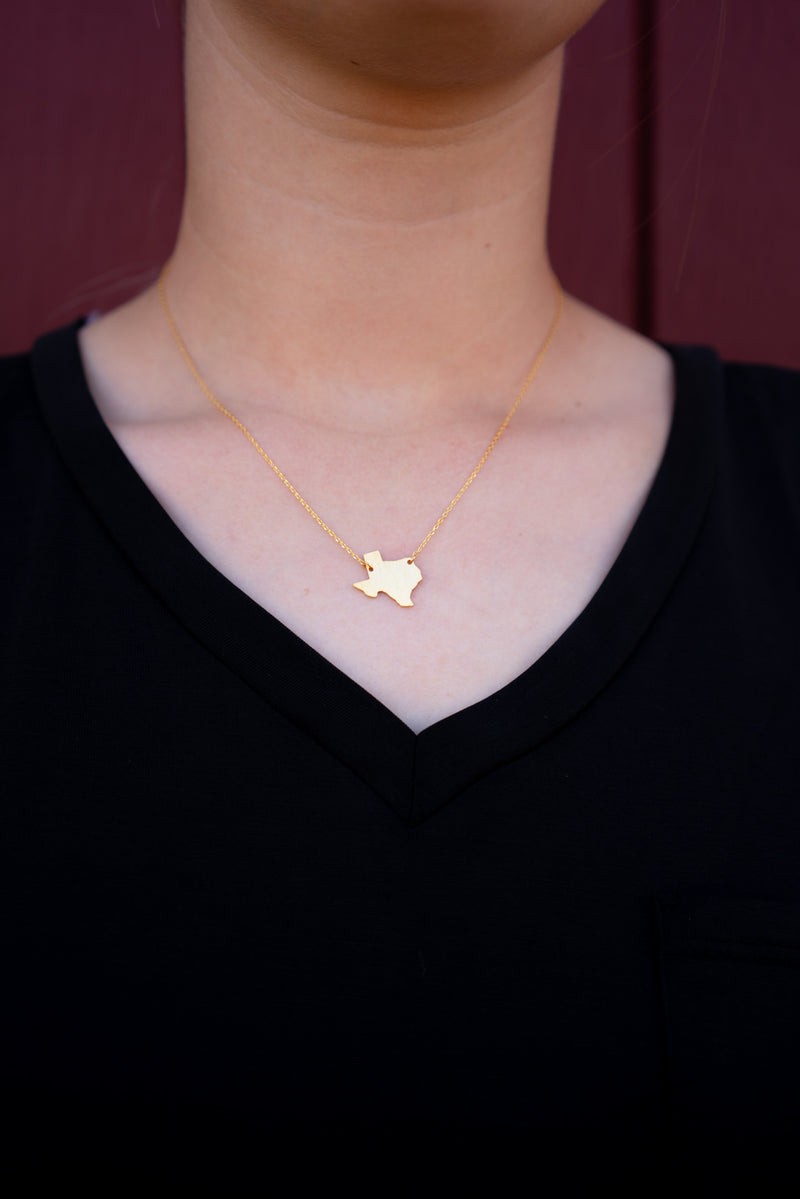 Texas Plate Necklace