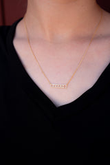 Texas Bar Necklace