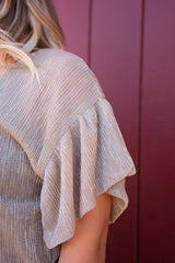 New Years Day Ruffled Sleeve Top