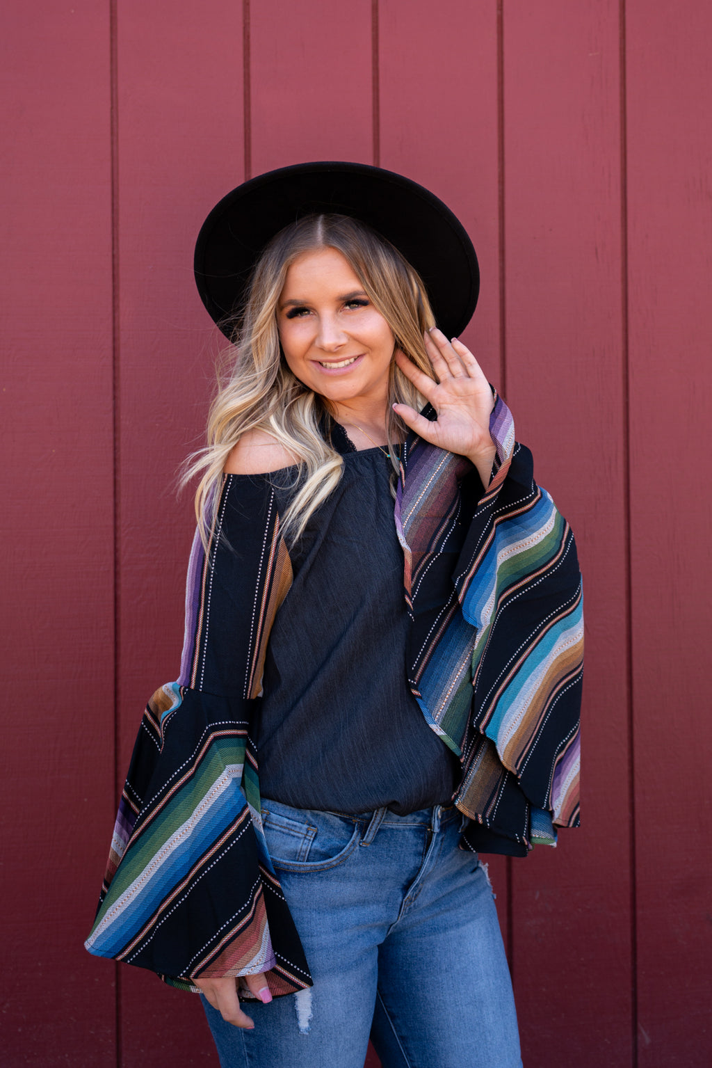Serape Dreams Bell Sleeve Top