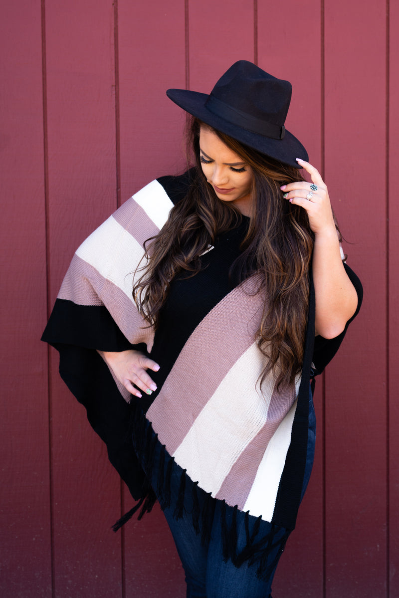 Follow Your Arrow Poncho Top